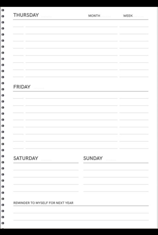 MOYU x Dennis Storm - The Week Planner rechts