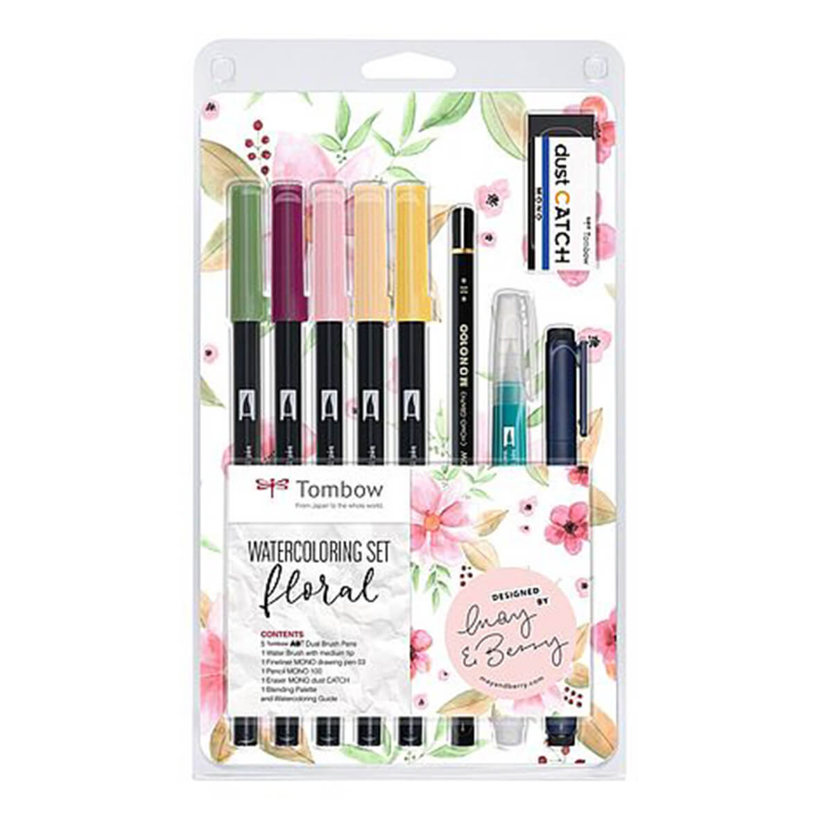 Tombow Watercoloring Set - Floral