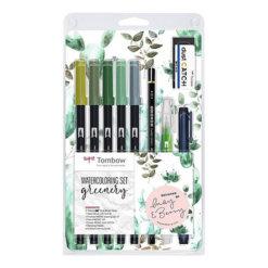 Tombow Watercoloring Set - Greenery