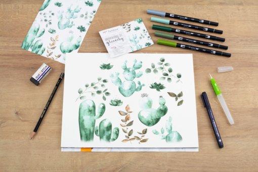 Tombow Watercoloring Set - Greenery 4