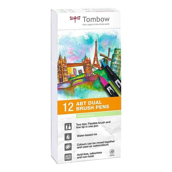 Tombow ABT set van 12 Pastel Colors