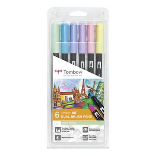 Tombow ABT set van 6 Pastel Colors