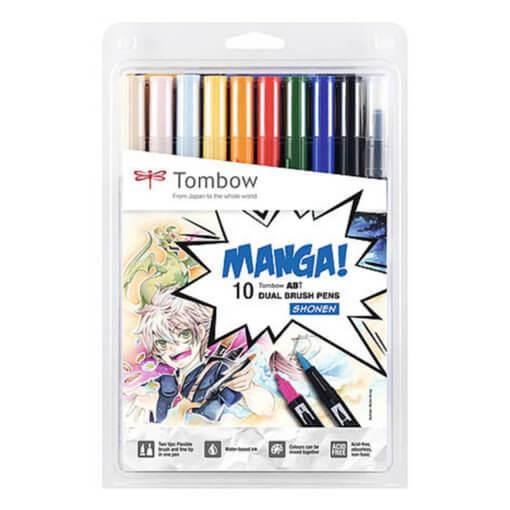 Tombow ABT set van 10 Manga Shonen