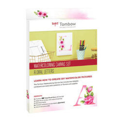 Tombow Watercoloring Canvas Set Floral Letters