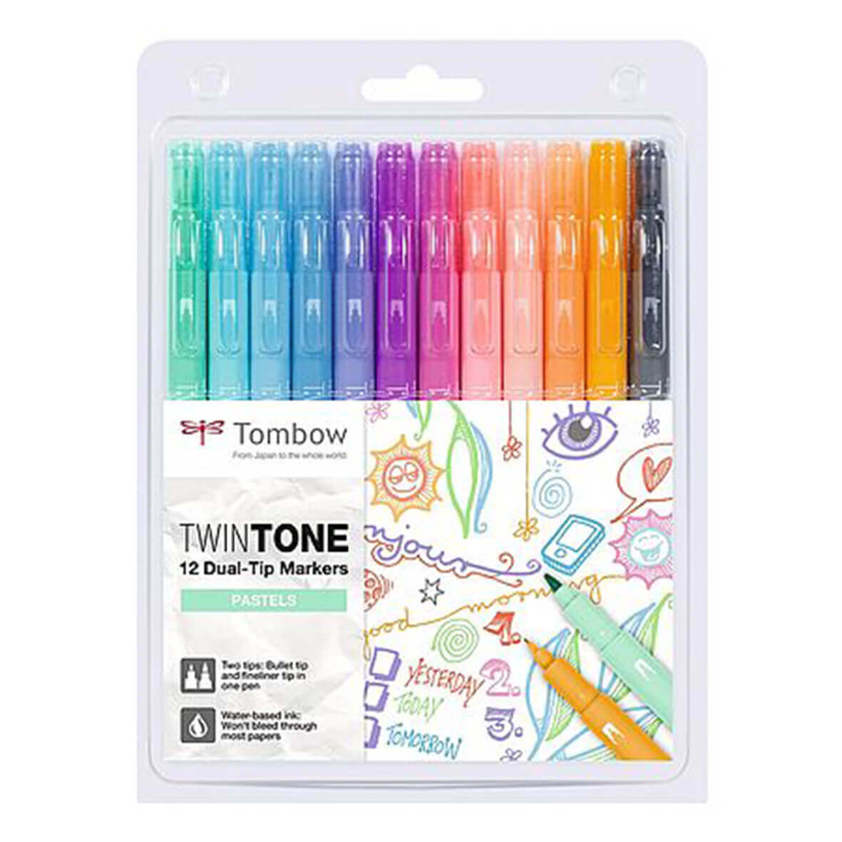 Tombow TwinTone set van 12 Pastel Colors