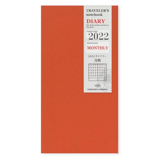 Midori Traveler's Notebook navulling Monthly 2022jpg
