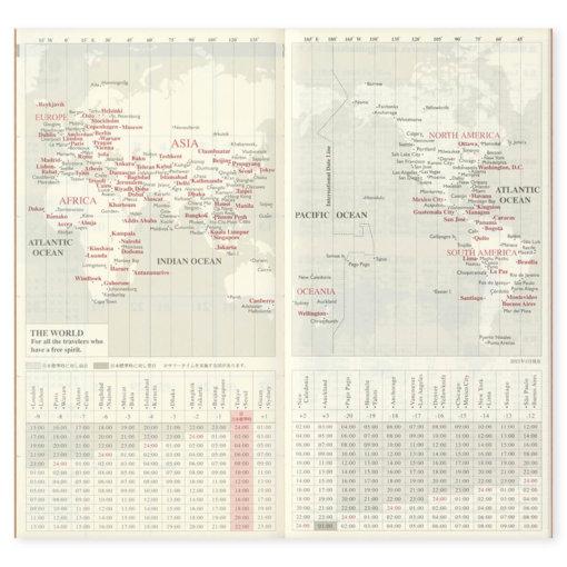 Midori Traveler's Notebook navulling Monthly 2022 4