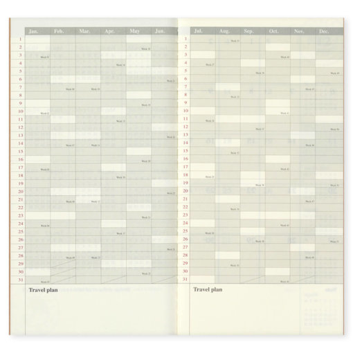 Midori Traveler's Notebook navulling Monthly 2022 5